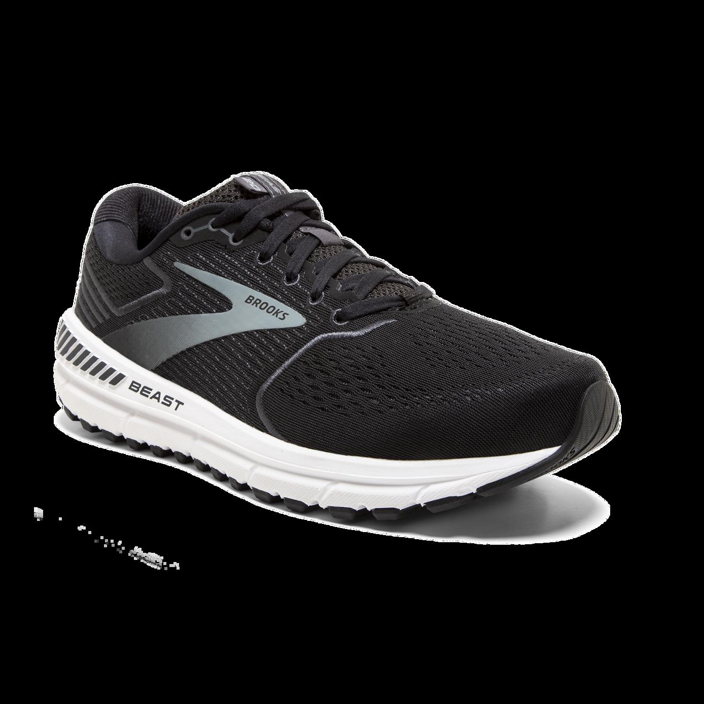 Black//Ebony//White Brooks Men/'s Beast /'20 Running Shoes