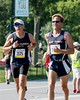 Richard and Zander running a race together.
