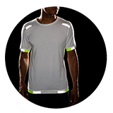 Men's Carbonite Short Sleeve (white with reflective strips)
