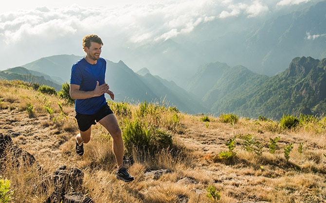 A solo runner spends some time on the trail for his physical and mental health