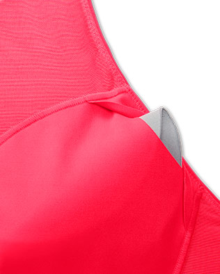 Opening in the Dare Crisscorss Run bra to remove the cups