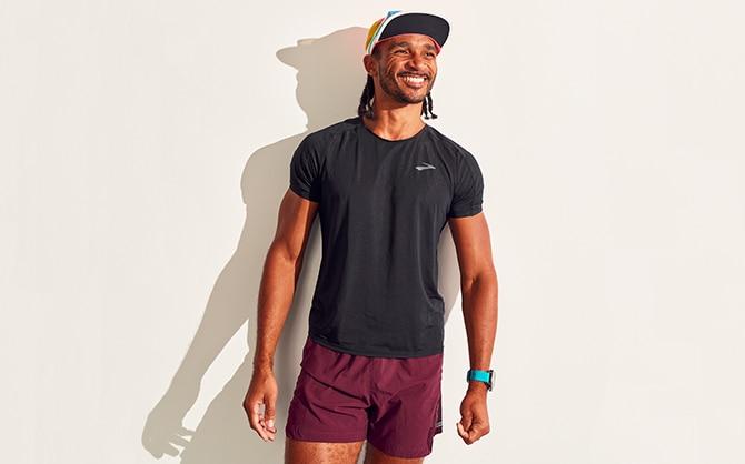 Man smiling in full Brooks Gear
