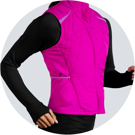 comfortable vest with weather protection