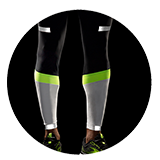 Men's Carbonite Tight (black and white with reflective strips)