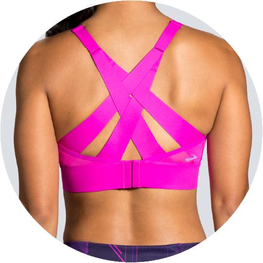 Run bra with compression support