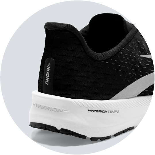 heel counter close up