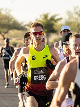 Hansons-Brooks ODP athlete Brendan Gregg hangs mid-pack