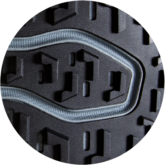 Raised tread to keep from slipping on wet surfaces