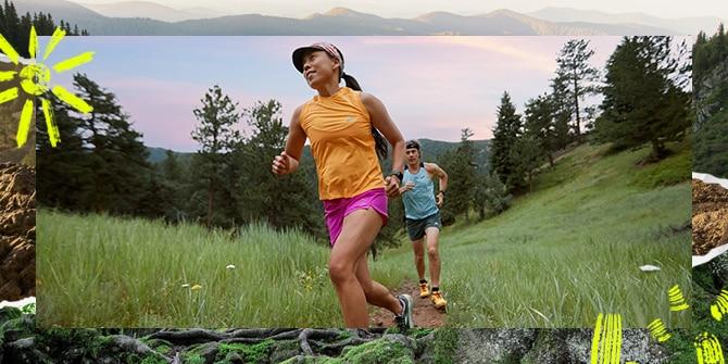 Scott and Jenny on a trail run