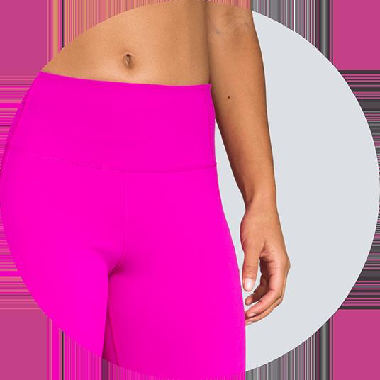 Collants shorts avec ceinture haute