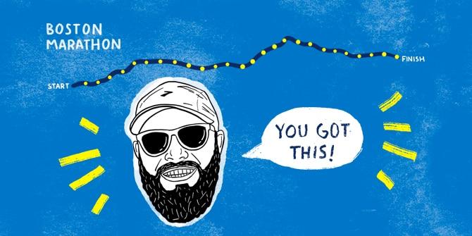 Boston Marathon cartoon