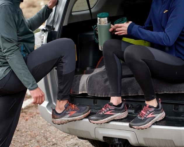 runners taking a break