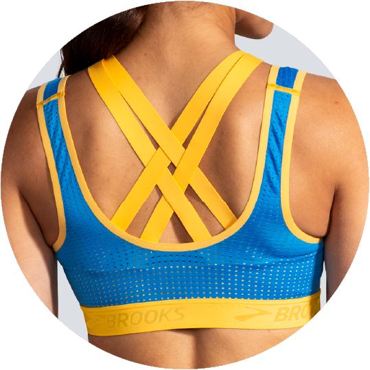 Run bra with free cut back