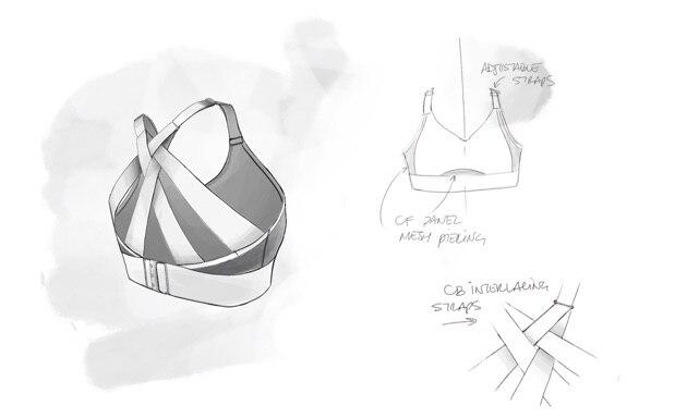 Illustrated Interlace run bra