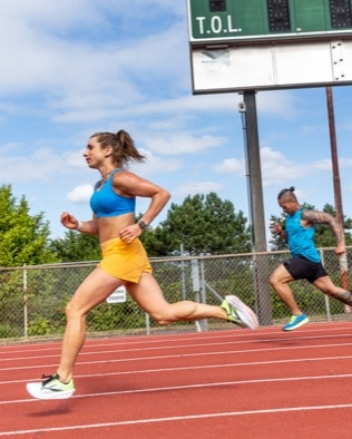 Runner doing a track workout