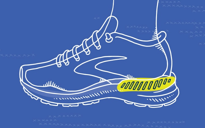 Illustration of two shoes with laces tied together