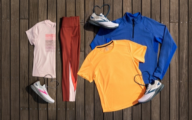 Spread of new spring 2021 apparel and shoes