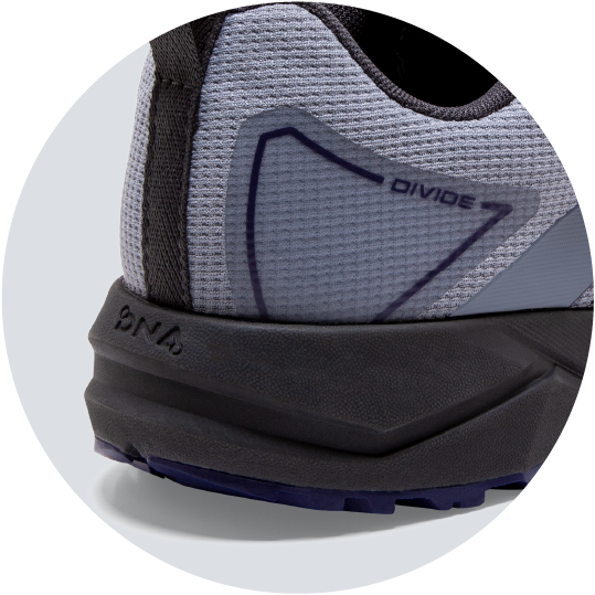 midsole with built in rock plate