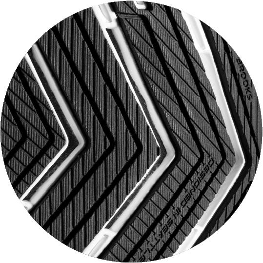 Suela con patrón en forma de flecha