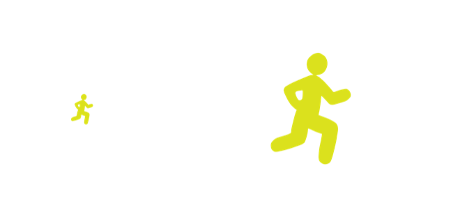 Illustrated eye with diagram showing line of sight to a runner.