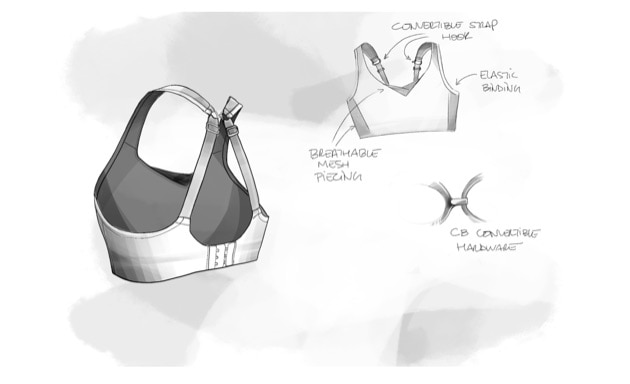 Illustrated Drive Convertible run bra