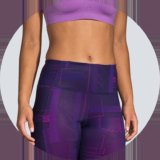 Crop tights with high waist band