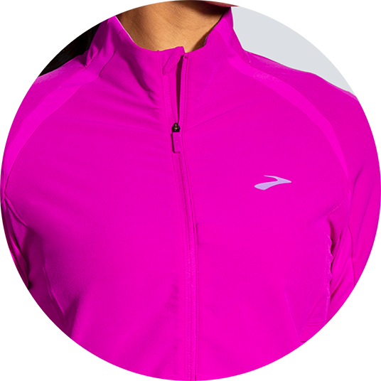 Pink jacket with zipped pocket