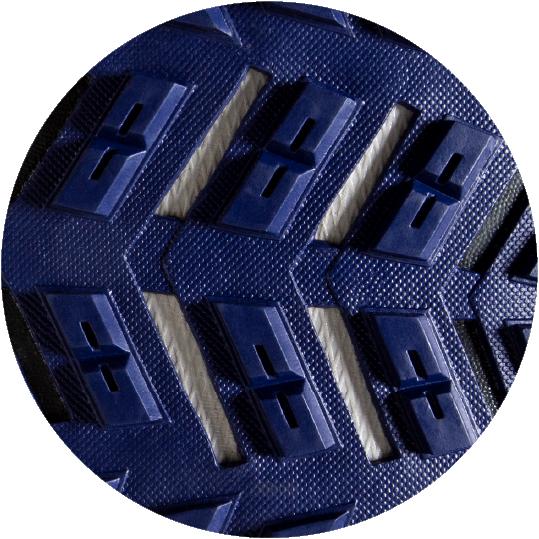 Raised tread pattern