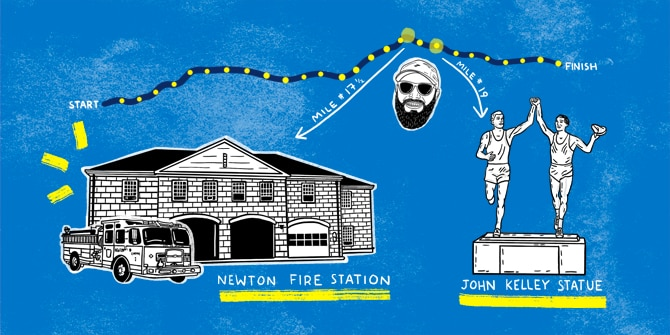 Newton Fire Station cartoon