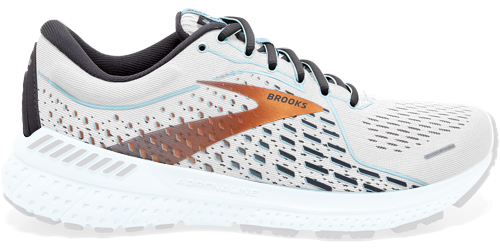 Brooks Adrenaline GTS 21 shoes with only the mesh upper highlighted