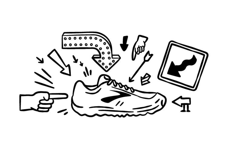 Illustration eines Schuhs