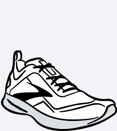 An illustrated running shoe