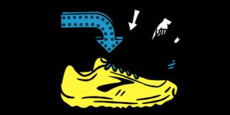 Ilustración de zapatilla