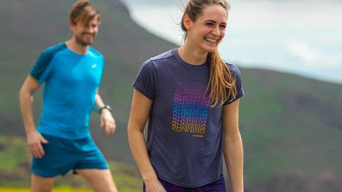 Athlete running on track