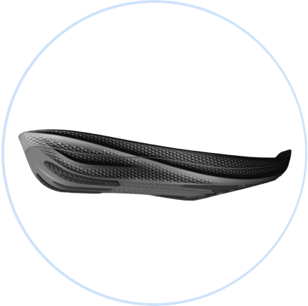 Eine Propulsion Plate aus Carbonfaser