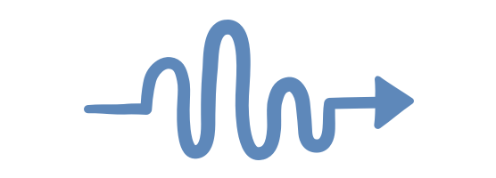 Illustration of a squiggly arrow