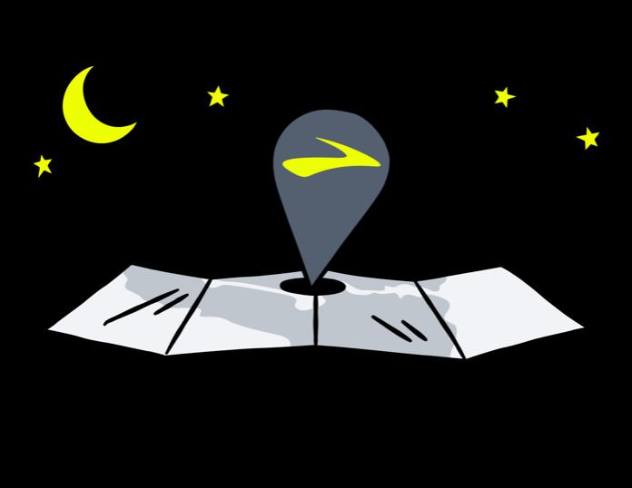 illustration d'une épingle sur une carte