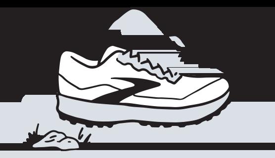 Illustration d'une chaussure de trail