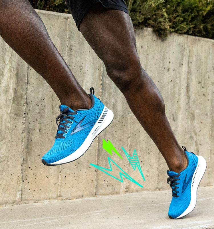 Runner wearing Levitate 5 GTS shoes