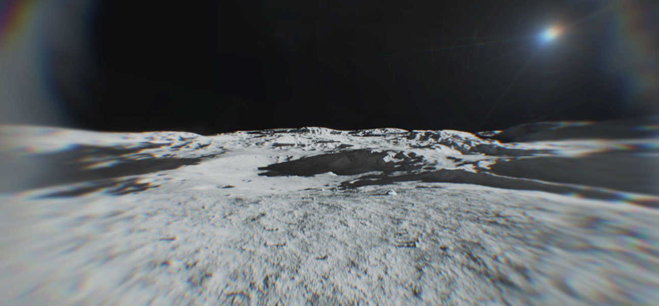 Moons surface