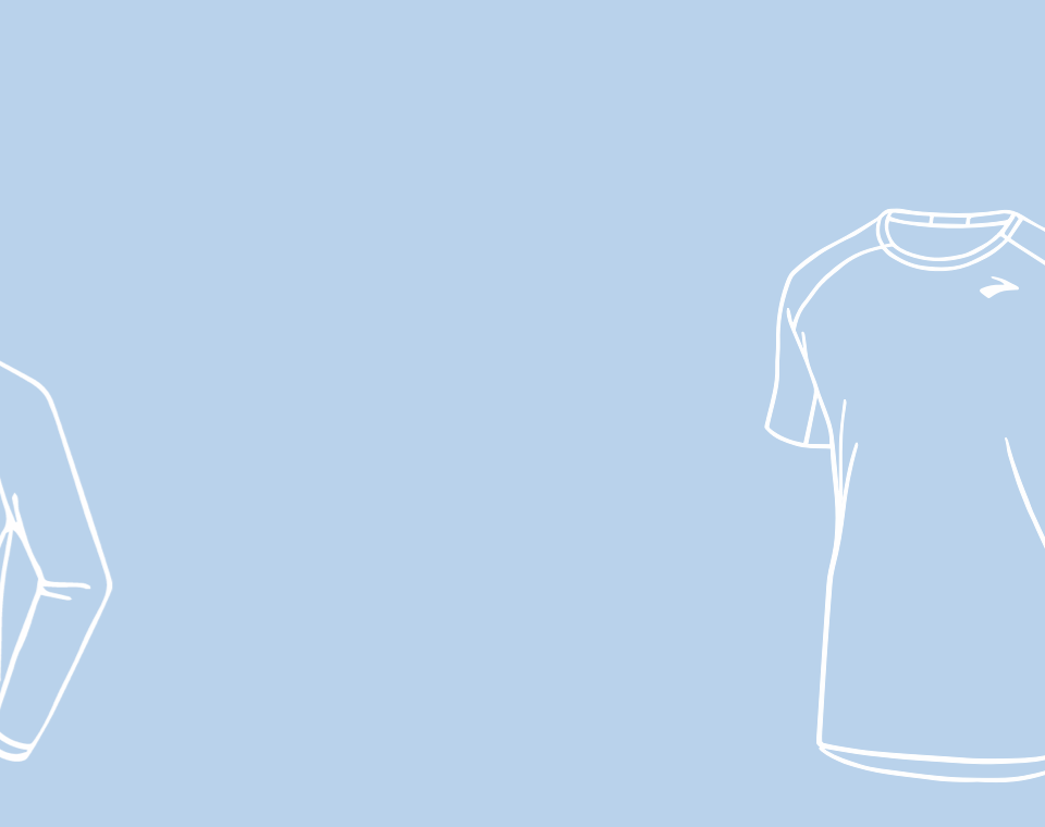 light blue background with white illustration of a shirt