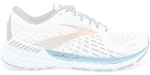 Brooks Adrenaline GTS 21 shoes with only the BioMoGo DNA highlighted