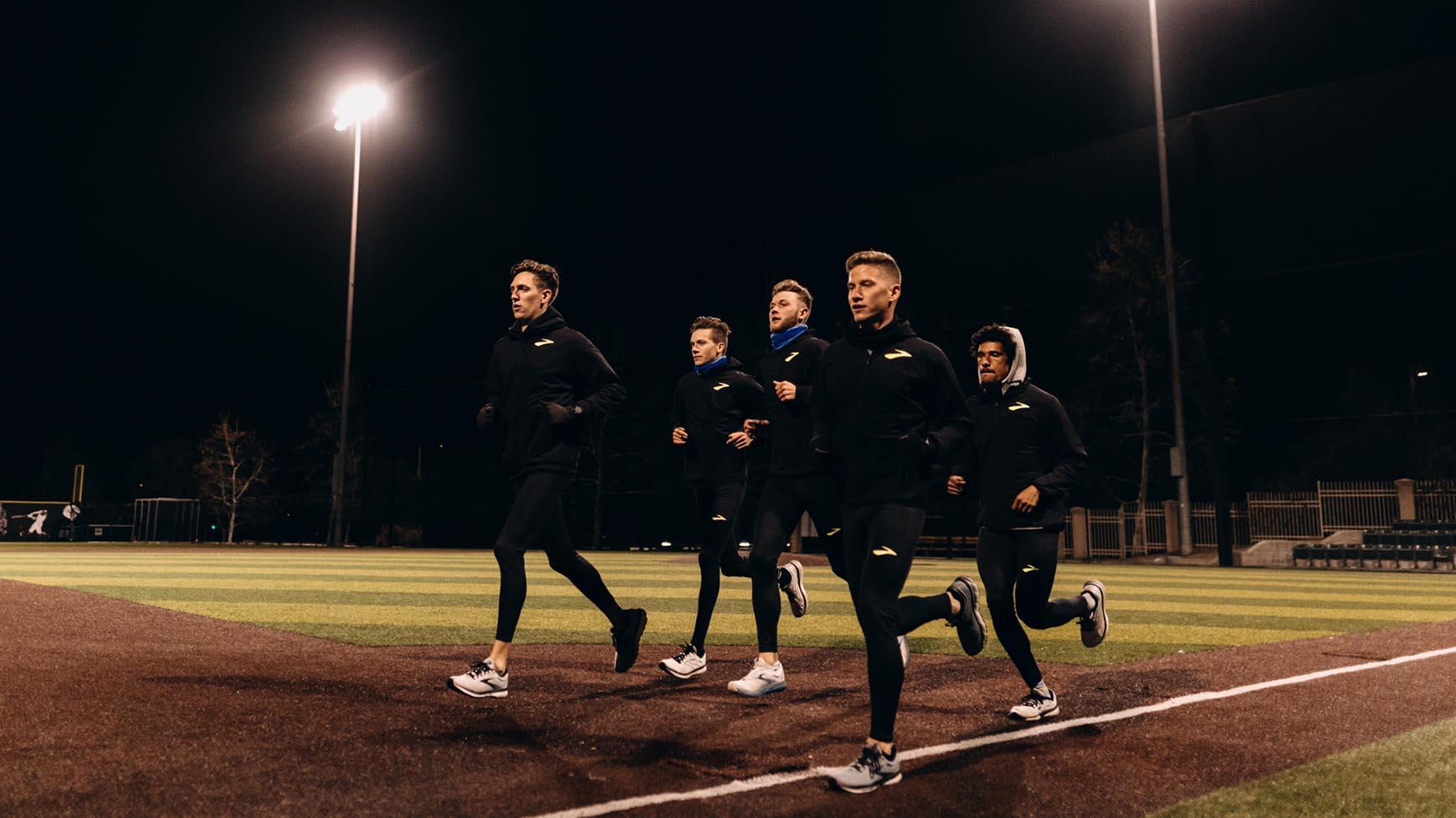 Brooks Beast Track Club on a run at night