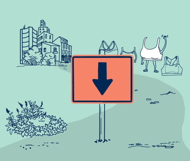 Illustration d'un signe de détour