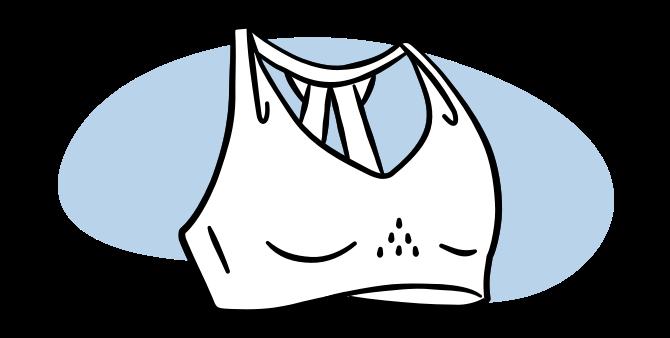 Illustrated sports bra