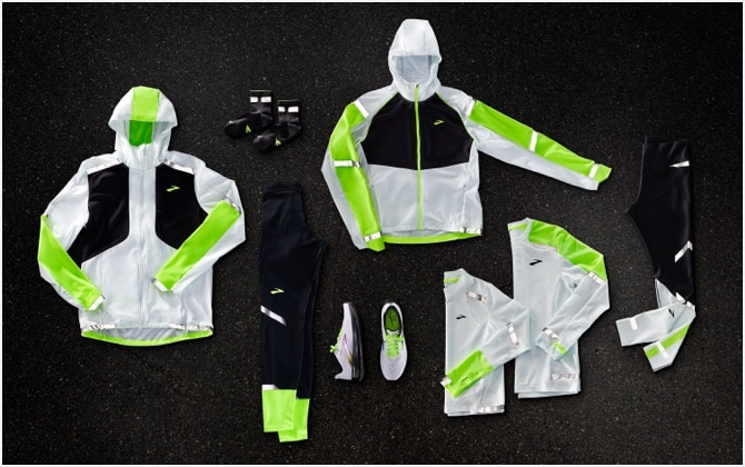 Run Visible apparel laid out
