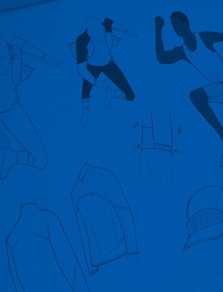 Fond bleu avec des illustrations bleu marine