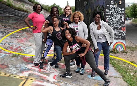 members of Black Girls Run! posing for a group photo