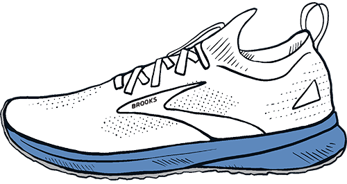 Illustration of a Brooks Shoe