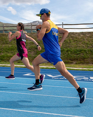 Runners racing